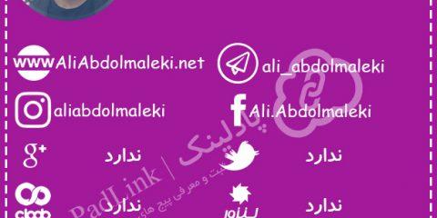 پیج های رسمی علی عبدالمالکی - پادلینک