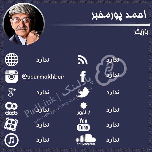 پیج های رسمی احمد پورمخبر