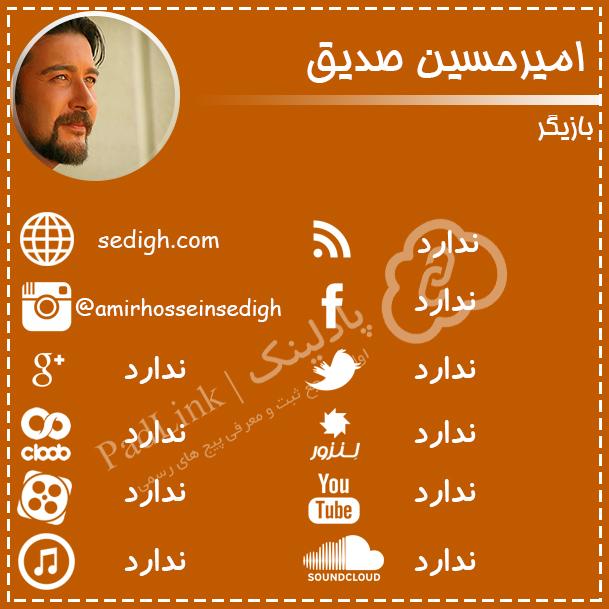 پیج های رسمی امیر حسین صدیق